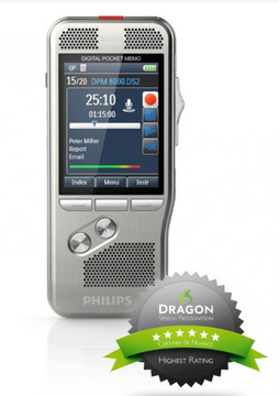 Diktafon Philips Pocket Memo Voice Recorder DPM-8100