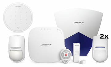HIKVISION ALARM KIT DS-PWA32-KG-P10P + OUTDOOR SIREN + WIRELESS KEYBOARD