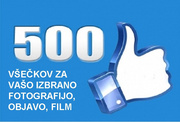 Get 500 FB všečkov for your selected photo, news, movie