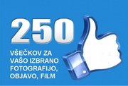 Get 250 FB všečkov for your selected photo, news Youtube