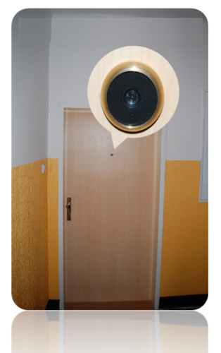WiFi door peephole with motion detection Secutron DoorGuard-W