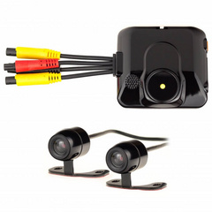 2-channel mini-camcorder for car or motorcycle