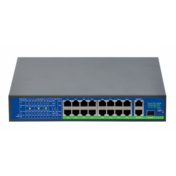 SWITCH 16 POE + 2 UPLINK 1000MB/S + SFP